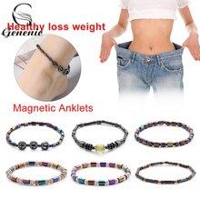 1 шт., магнитный браслет для похудения, цветной камень, магнитотерапия, браслет для похудения, ювелирные изделия для здоровья