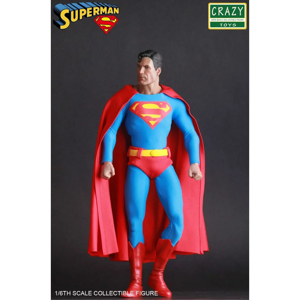 Crazy Speelgoed Justice League Superman Super Hero PVC Action Figure Collectible Model Toy Doll 30cm KT2985-in Actie- & Speelgoedfiguren van Speelgoed & Hobbies op  Groep 2