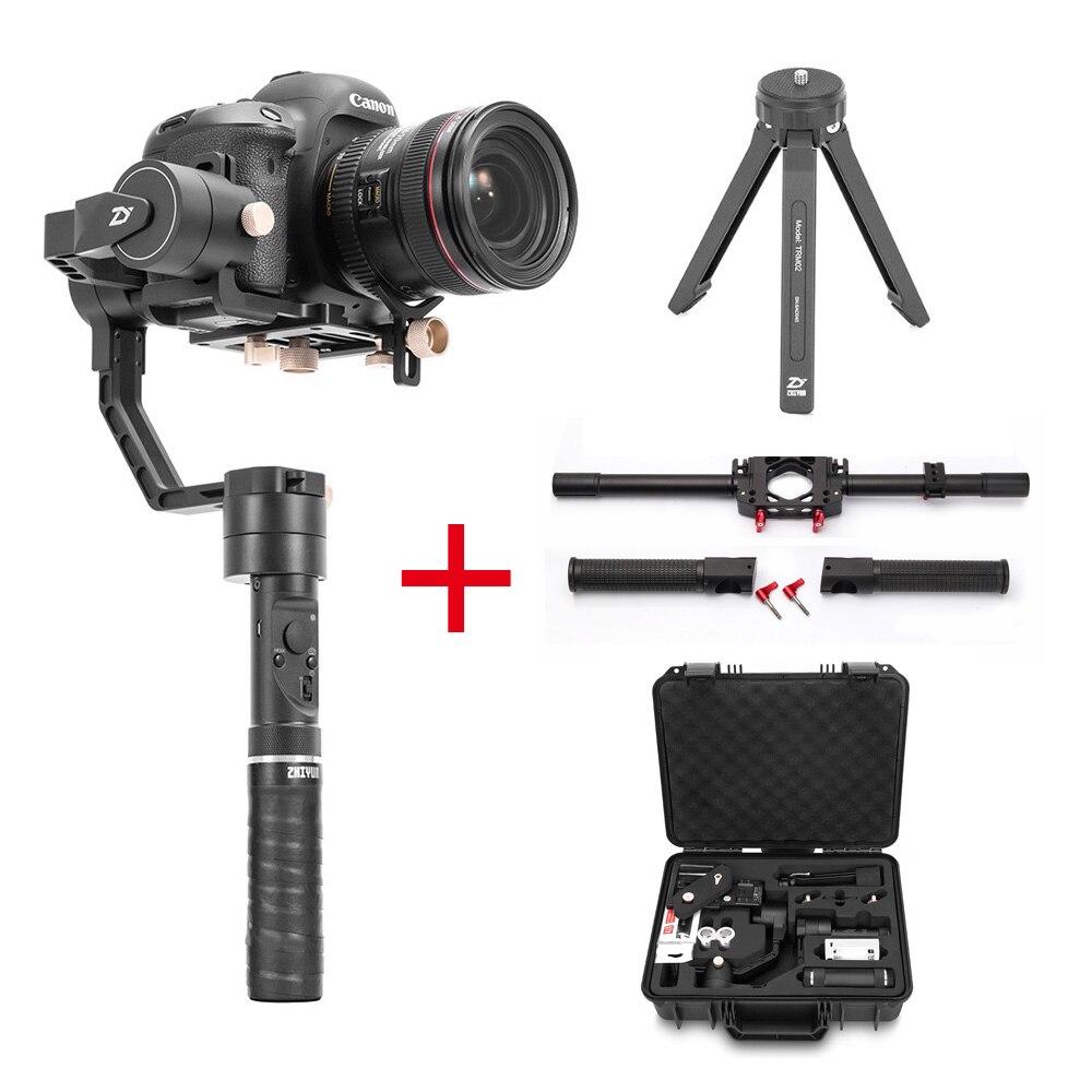 Zhiyun Grue Plus 3 Axes De Poche Cardan Stabilisateur + Double Poignée, pour Sony Canon DSLR Caméra POV 2.5 KG charge utile Objet-suivi