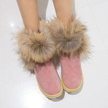 5e89af359 3 Cores Da Moda Das Mulheres Botas de Neve Botas de Inverno Dedo Do Pé  Redondo Preto Bege Rosa Shoes EUA Tamanho 4-10.5