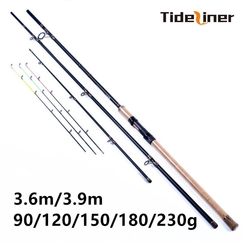 3 6m 3 9m Feeder fishing rod three quivertips 90g 120g 150g 180g 230g 3 3
