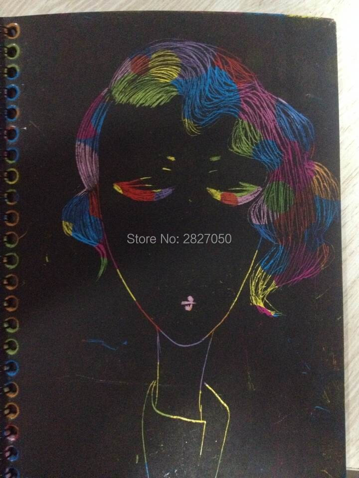 Magic-Drawing-Book-DIY-Scratchbook-Scratch-Stickers-Notebook-Black-Cardboard-Stationery-Drawing-Toy-As-Gift-For-Kids-5