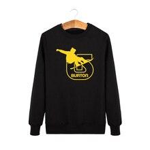 Fashion BURTON Printed Hoodies Men Full Sleeve Autumn Winter Male Skateboard Sweatshirts Man Pullover Sporting Suit Hip Hop Tops