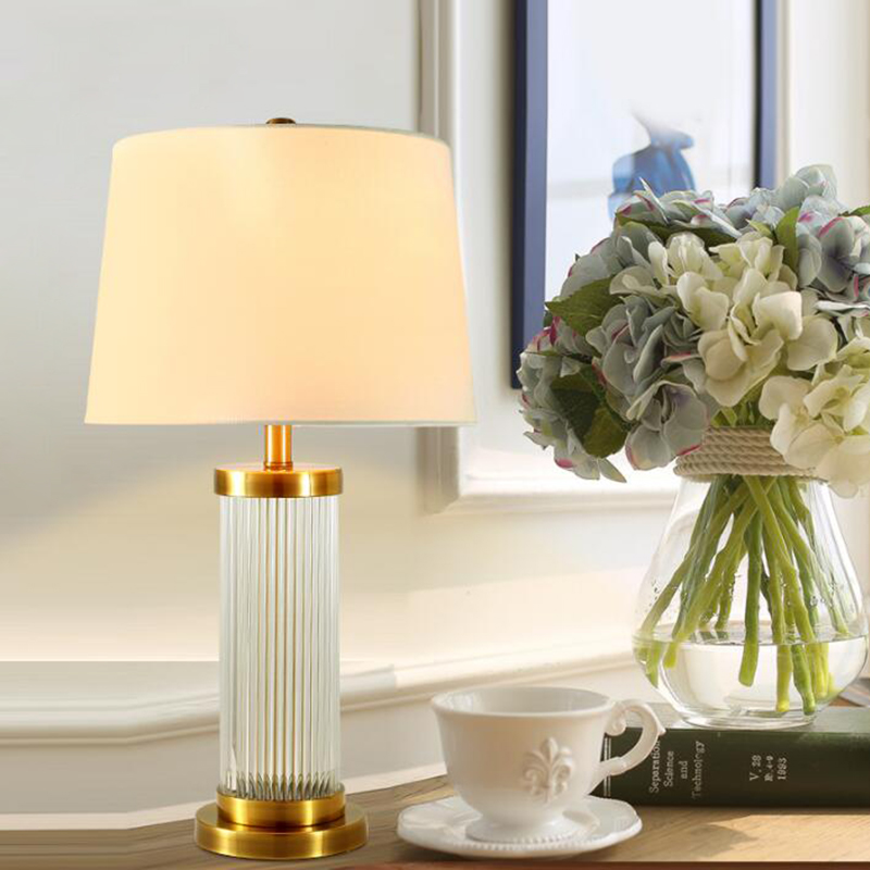 цена Luxury Modern Table Lamp Crystal Table Lamp Fabric Lampshade Living Room Abajur For Bedroom Crystal table lamps
