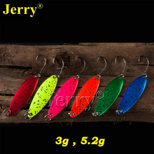 Jerry 6pcs 3g 5g pesca fishing tackles trout spoon freshwater fishing spoons spinner bait metal lures