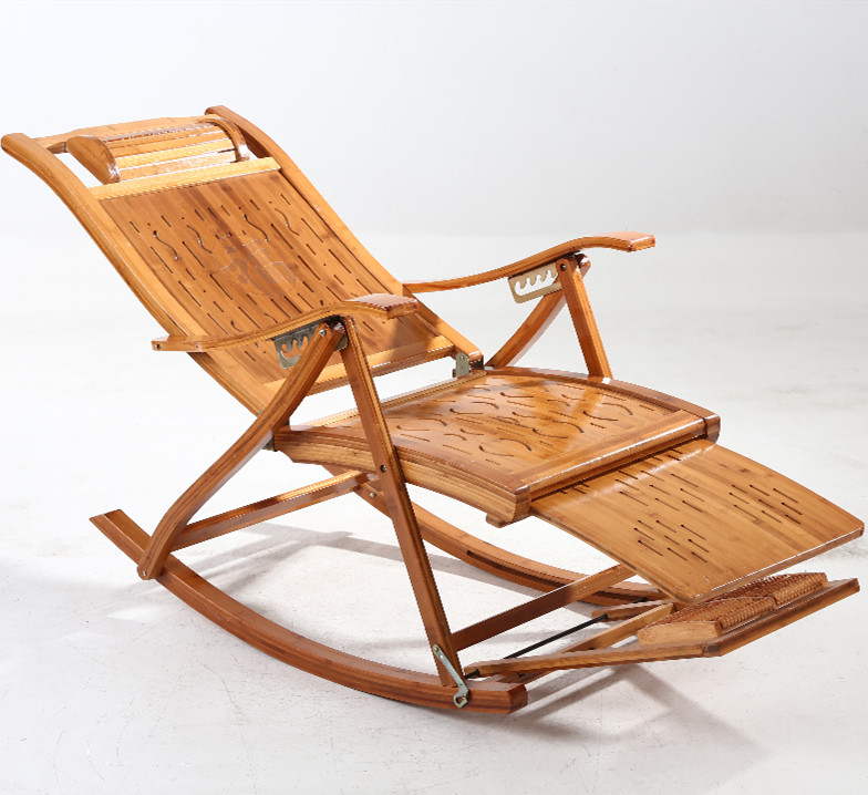 Awe Inspiring Summer Recliner Folding Lunch Break Easy Chair Home Solid Wood Adult Old Man Nap Chair Balcony Casual Bamboo Rocking Chair Bralicious Painted Fabric Chair Ideas Braliciousco