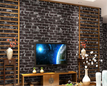 beibehang classic nostalgic gray brick pvc wallpaper three-dimensional hotel clothing store backdrop wall papel de parede