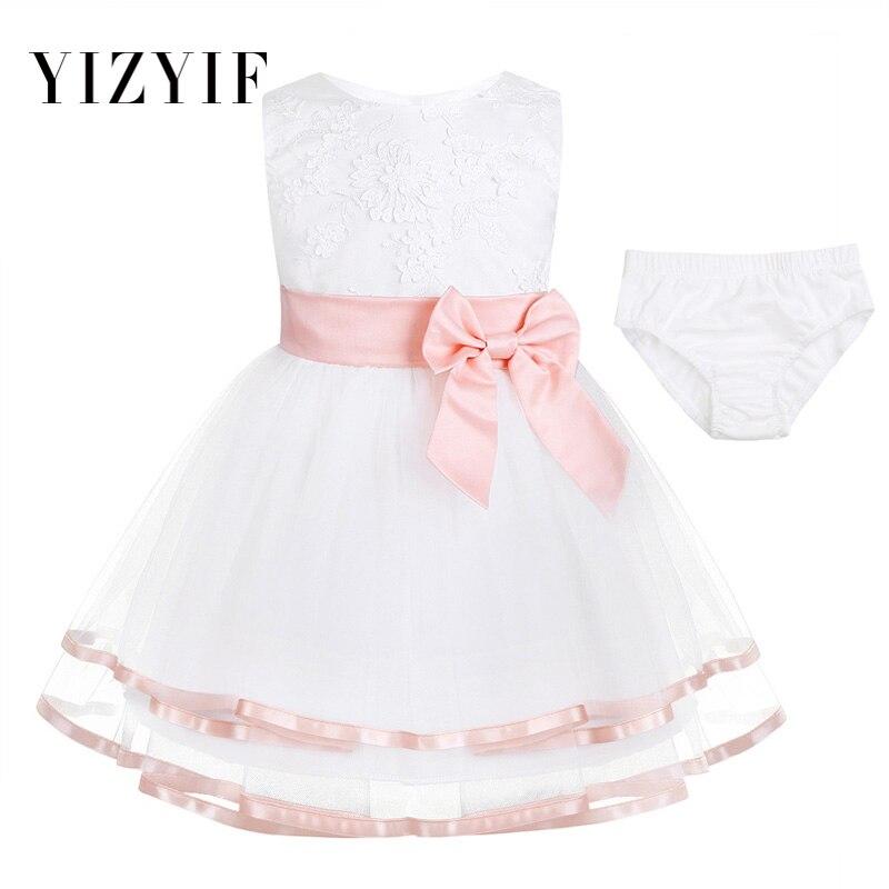 YiZYiF Newborn Toddler Girl Baptism Dress Baby Girls
