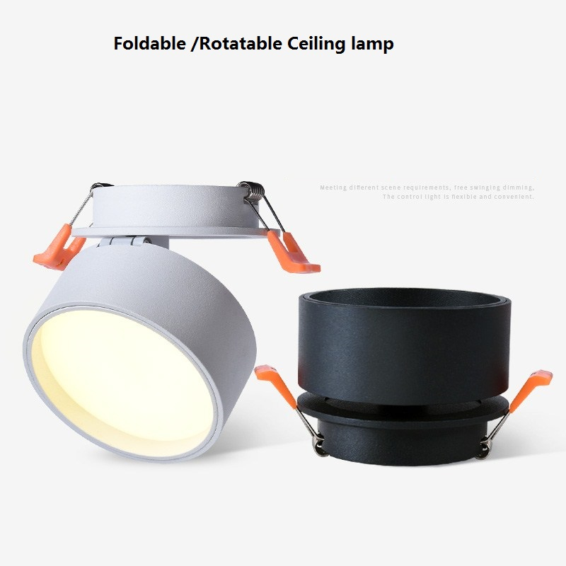 Image 5 - 85 265Vac input 3W/5W/7W/12W embedded LED ceiling lamp ,Foldable and 360 degree rotatable light spray background down lightCeiling Lights   -