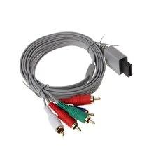 1.8m componente 1080 p hdtv av áudio 5rca adaptador cabo fio para nintendo wii console