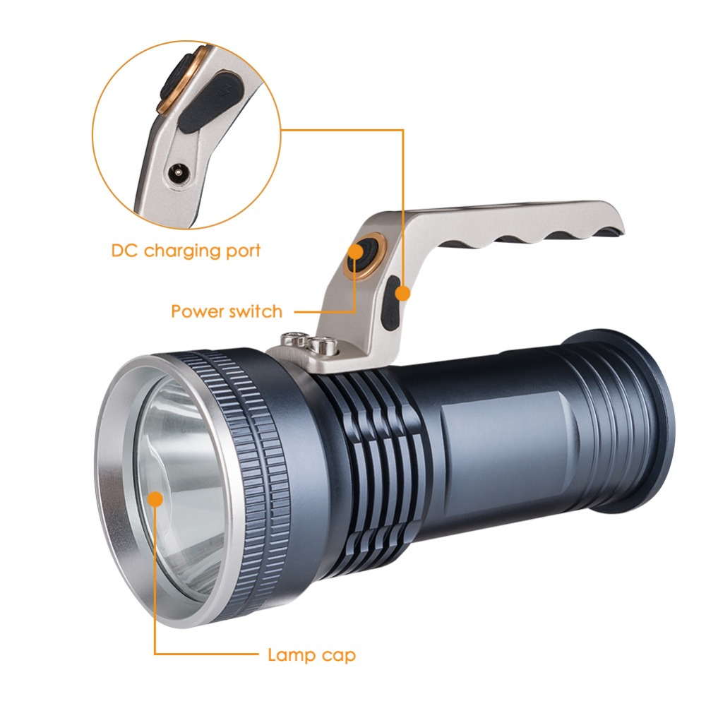 sanyi Ultra-bright XPE Led Spotlight Long-range Searching Lamp Super Bright Torch Outdoor Emergency Lamp for outdoor activities information searching and retrieval