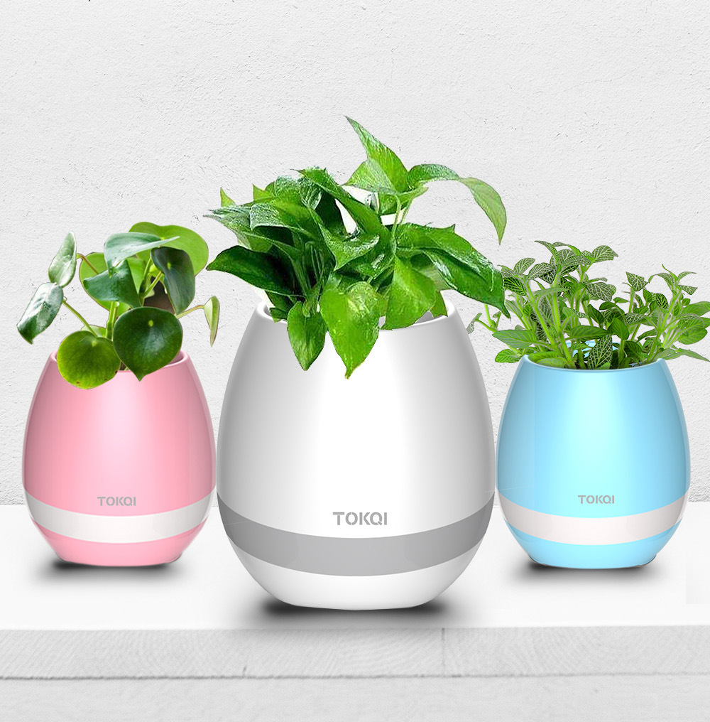 Smart music flower pot speaker can play piano outdoor home wireless Bluetooth