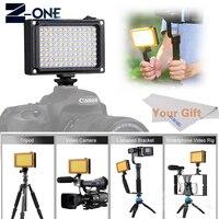 96 LED Phone Video Light Photo Lighting on Camera Hot Shoe LED Lamp for iPhoneX 8 Camcorder Canon/Nikon Sony Feiyu ZHIYUN+Gift
