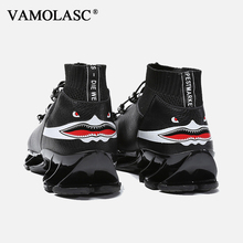 VAMOLASC New Men's Sport Running Shoes Trend Fit Non-slip Breathable Eva Outdoor Sneakers