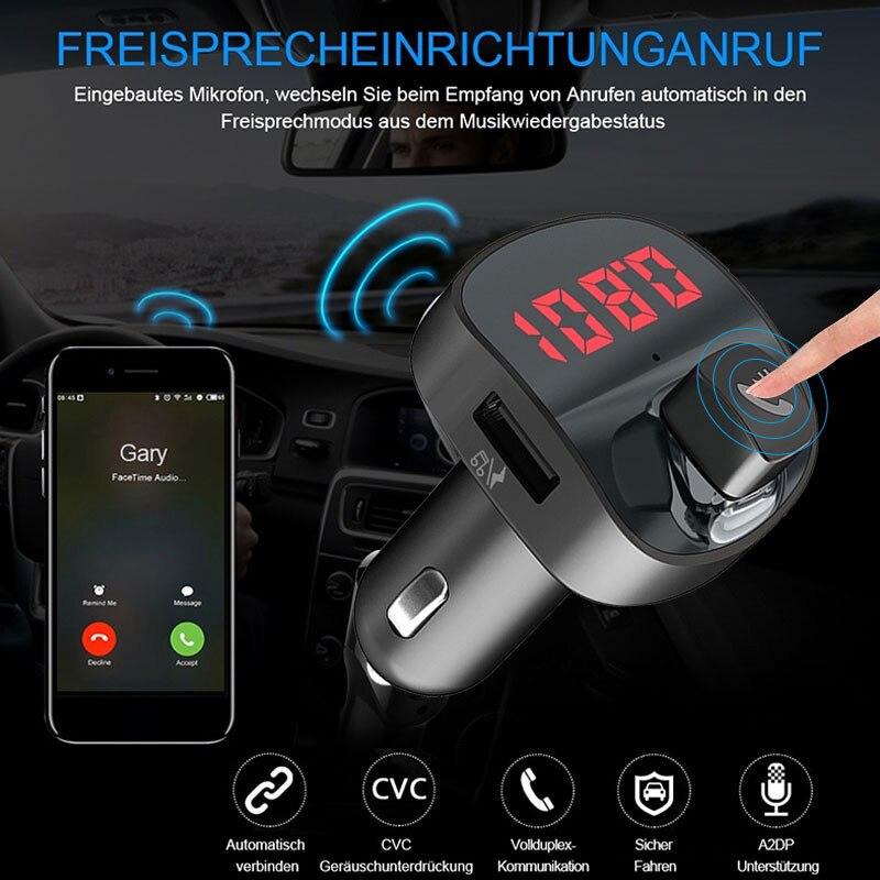 Беспроводной радиоадаптер Bluetooth aux-приемник стерео fm-передатчик портативный музыкальный автомобильный fm-передатчик Универсальный автомобильный комплект