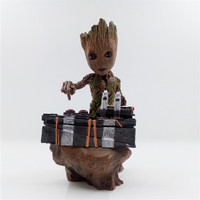 Boxed Guardians Of The Galaxy 2 DJ Tree Man Statue Resin Figure Collectible Model Toy 18cm