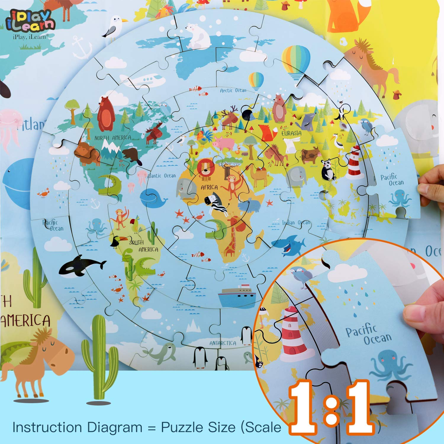 US $16.71 5% OFF|Kids Wooden World Map Jigsaw Puzzle Toy, Jumbo Floor on map making, map of hemispheres, map of earth, map of the seas, map of equator, map of cities, blank map continents, map of states, map of africa, map of the world, map of india, map of pangea, map of oceans, map of europe, map of canada, map of prime meridian, map of middle east, map of columbus voyage, map of china, map of landforms,