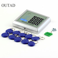 1set Security Electronic RFID Proximity Entry Door Lock Access Control System 10 Key Fobs Hot Search