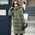 Womens Coats And Jackets Winter 2017 Winter Medium-Long Parka Women's Clothing Over Knees Padded Jacket Hooded Cotton Coat C1696