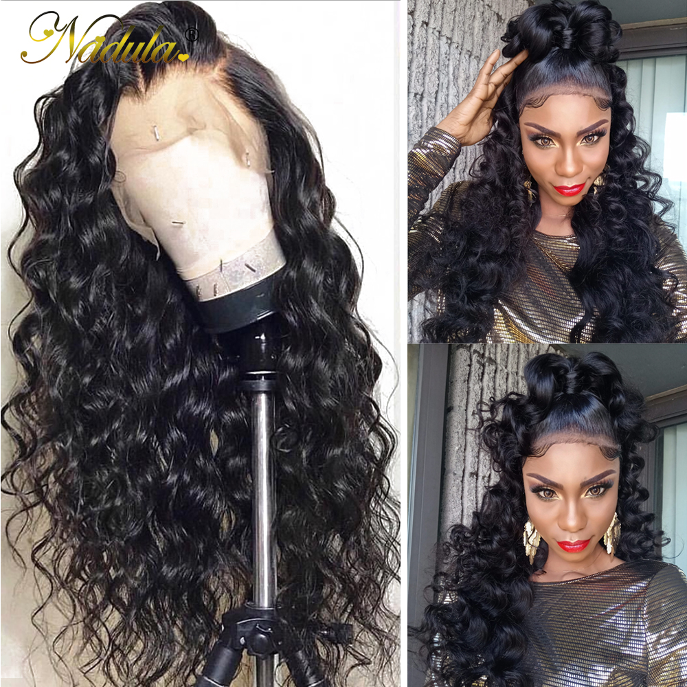 Nadula Lace Wig 13x4 MIX Curly Lace Front Human Hair Wigs Pre Plucked Hairline With Baby