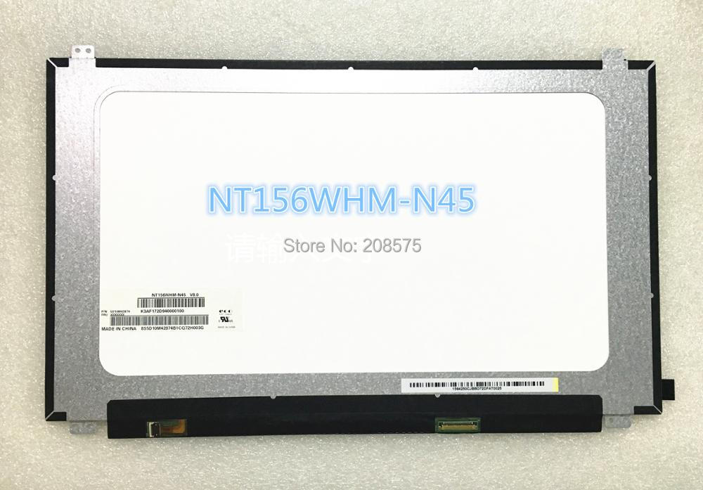 Free shipping NT156WHM-N45 V8.0 NT156WHM N45 Matte non-edged Fit for Lenovo Laptop Lcd Screen P/N 5D10M42874 1366*768 30 pins