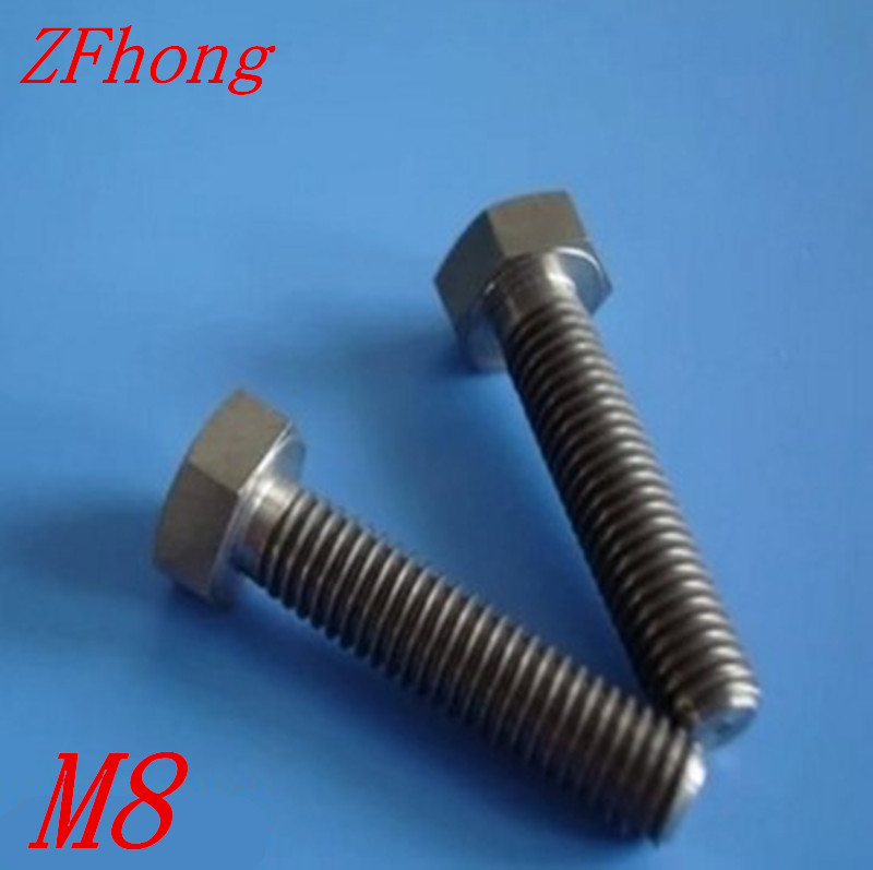 20, 25, 30, 35, 40 mm M8 Titanium DIN 6921 Hex Head Flange Bolt Fastener