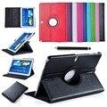 Для Samsung Galaxy Note (2014 Издание) 10.1 P600 Tab Pro T520 Tablet PU Кожаный Чехол Обложка Вращающийся ж/Screen Protector + Стилус