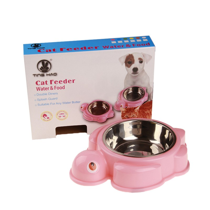 Stainless Steel Dogs Bowl Pet Bowls for Dog Puppy Cats Food Water Drink Feeder Pets Supplies Feeding Dishes 2018
