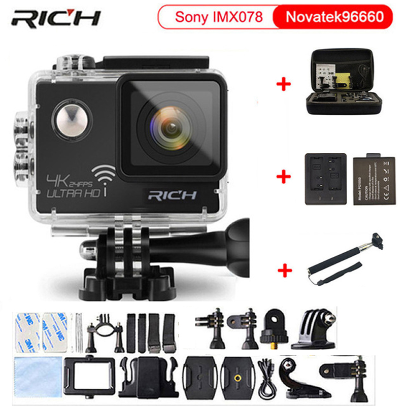 Action camera NTK96660 True 4K 3840*2160P 24FPS 16MP 170D lens 2.0 Mini Cam go waterproof pro sports camera ze ev hochberg evo devo of child growth treatise on child growth and human evolution