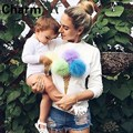 Colorful Ice Cream Plush Ball Pullover Jumper 2016 Autumn Casual Long Sleeve Streetwear Women Hoodies Tops