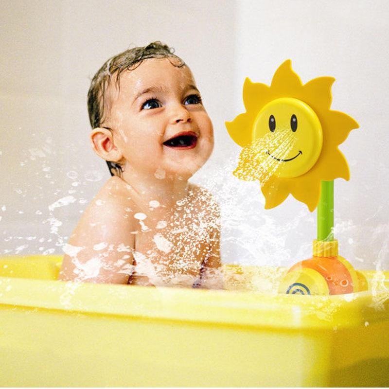 New Baby Bath Toy Children Pool Swimming Toys Sunflower Shower ...