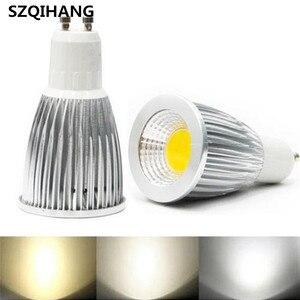 GU10 GU5.3 E27 AC85-265V MR16 DC12V Светодиодные прожекторы 3 Вт 5 Вт 7 Вт 9 Вт COB процесс холодного белого светодиодного освещения лампа для домашнего офиса б...