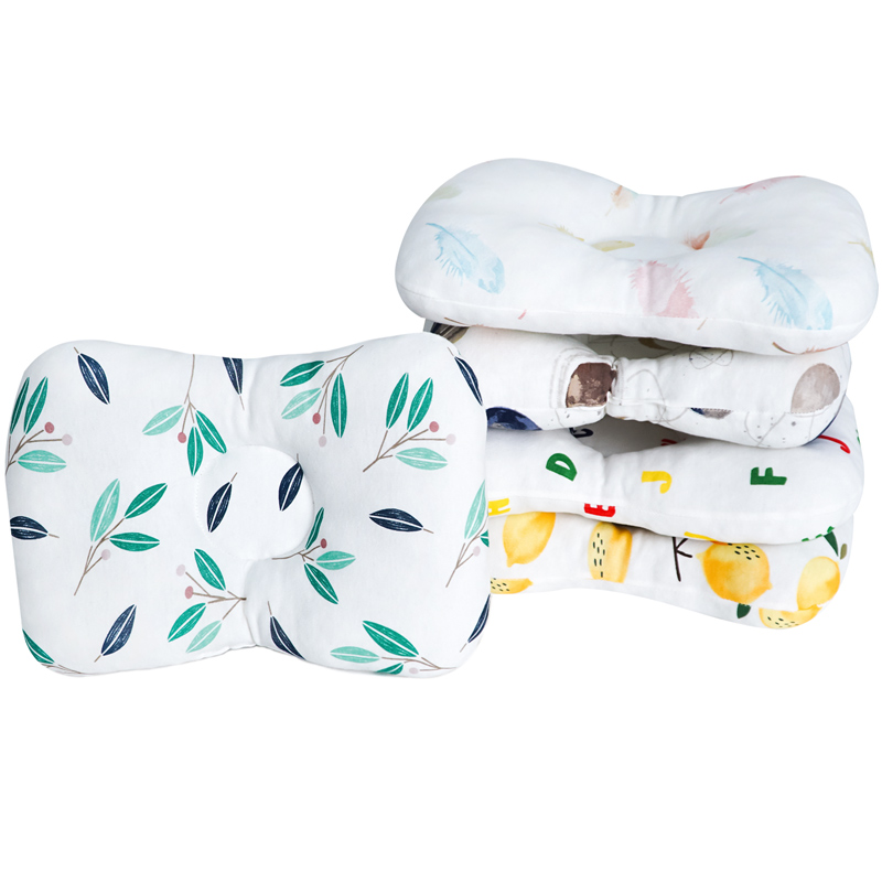Muslinlife Animal Printed Cotton Pillow Newborn Neck Head Kids Pillow Baby Soft Sleeping Pillow Room Decoration Dropship