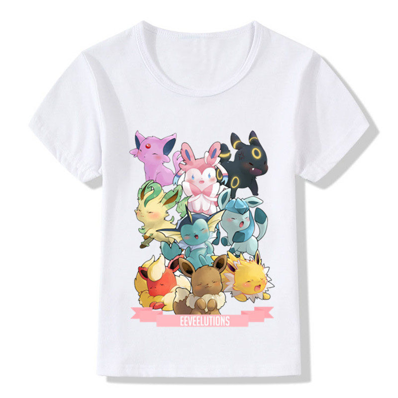 Children Fashion Pokemon Go Spirits Gotta Fit Them All Design Funny T-Shirt Kids Cute Clothes Boys Girls Summer Tops Tee,ooo5091