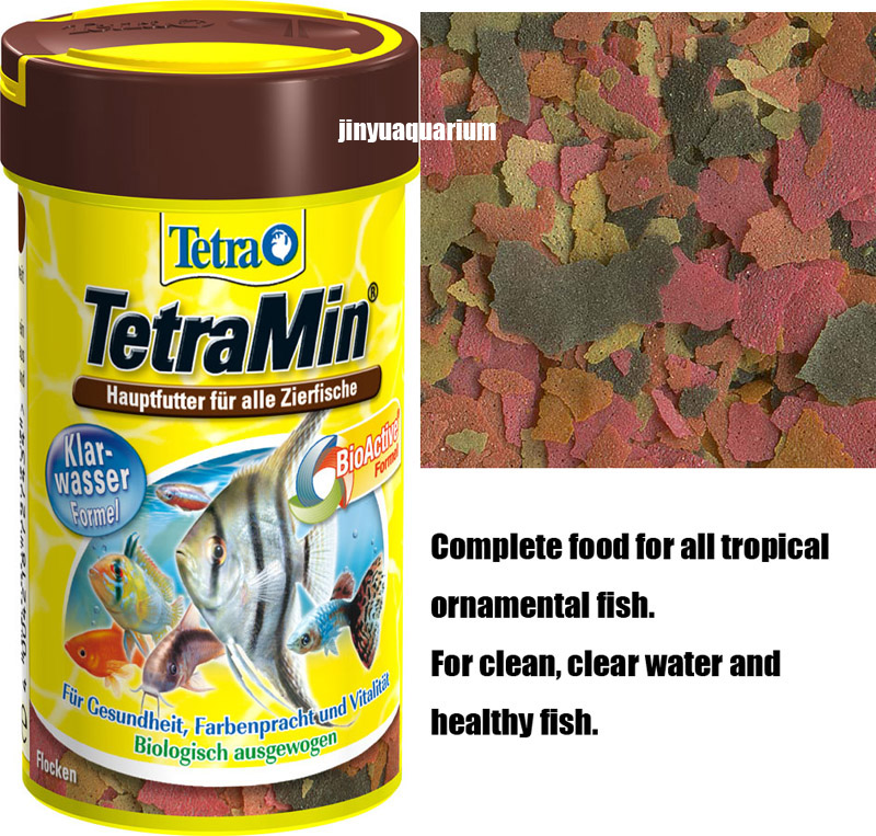 Tetramin tropical fish food float staple flakes canister for Food for fish at home