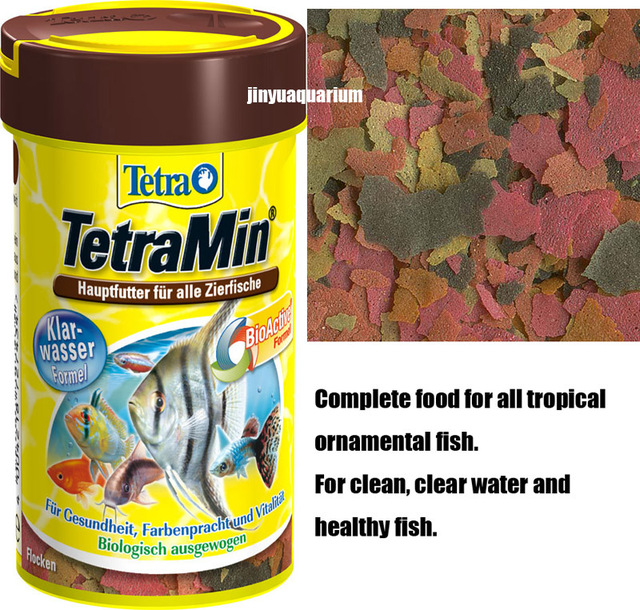 Tetramin Tropical Fish Food Float Staple Flakes Canister Feeder