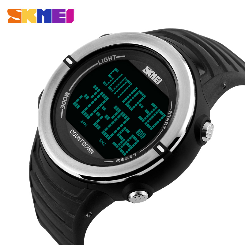 SKMEI Brand Men Waterproof Luxury Military Watches Men's LED Digital Sports Wristwatch Relogio Masculino New 2018 1209#