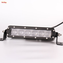 7 Inch 30W Light Bar With 4D Lens For Offroad Wrangler ATV Truck Boat 12V 24V