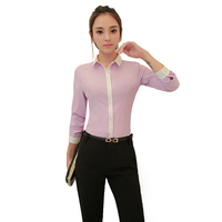 Chiffon Prince Collor Slim Long Sleeve Bluse Plus Size XXXL 4XL Blusas Women Blouses Blouse White