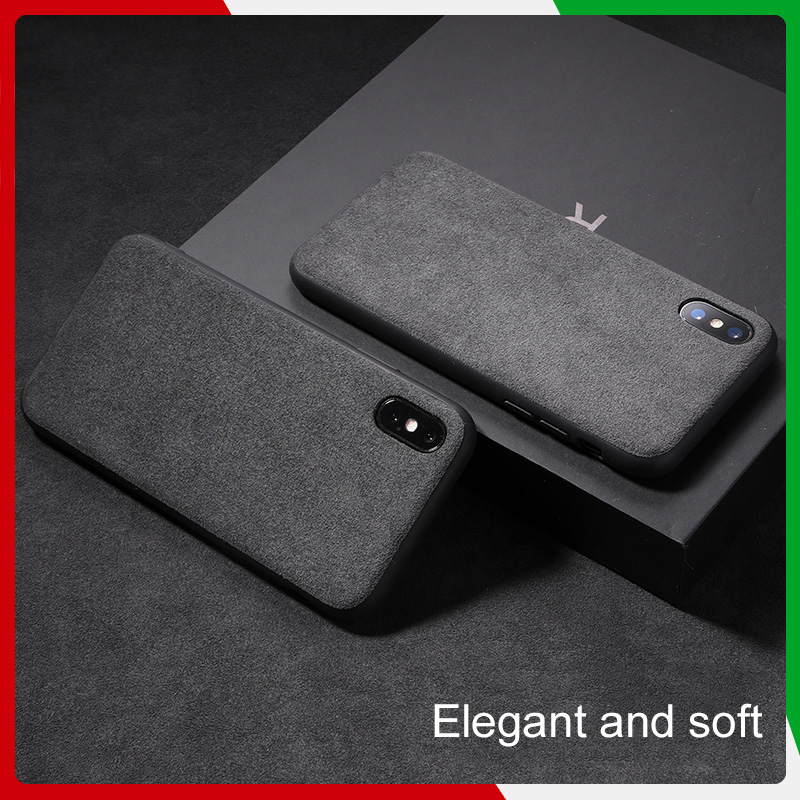 best sneakers 155be 52bef For Iphone X XR Xs Max Phone Case Leather ALCANTARA Fasion Business Tpu  Leather Luxury Premium Cellphone Shell Case N