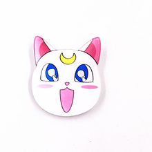 1PCS Sailor Moon Water Ice Moon Luna White Cat Cute badges Pin Clothes Decoration Backpack Small Accessories Gift acrylic brooch(China)