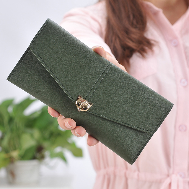 78a220d1692c MONNET CAUTHY New Arrival Female Wallet Classic Concise Fashion Multi Card  Slot Solid Color Green Black Grey Purple Long Wallets