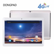 Dongpad Nuevo Google Android 6.0 OS 10.1 pulgadas tableta 4G LTE Octa Core 4 GB RAM 32 GB ROM 1920*1200 IPS Tabletas Embroma el Regalo 10 10.1