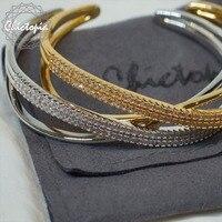 Chictopia 2017 Fashion Swarovski Crystal Bracelets Bangles For Women Gold Silver