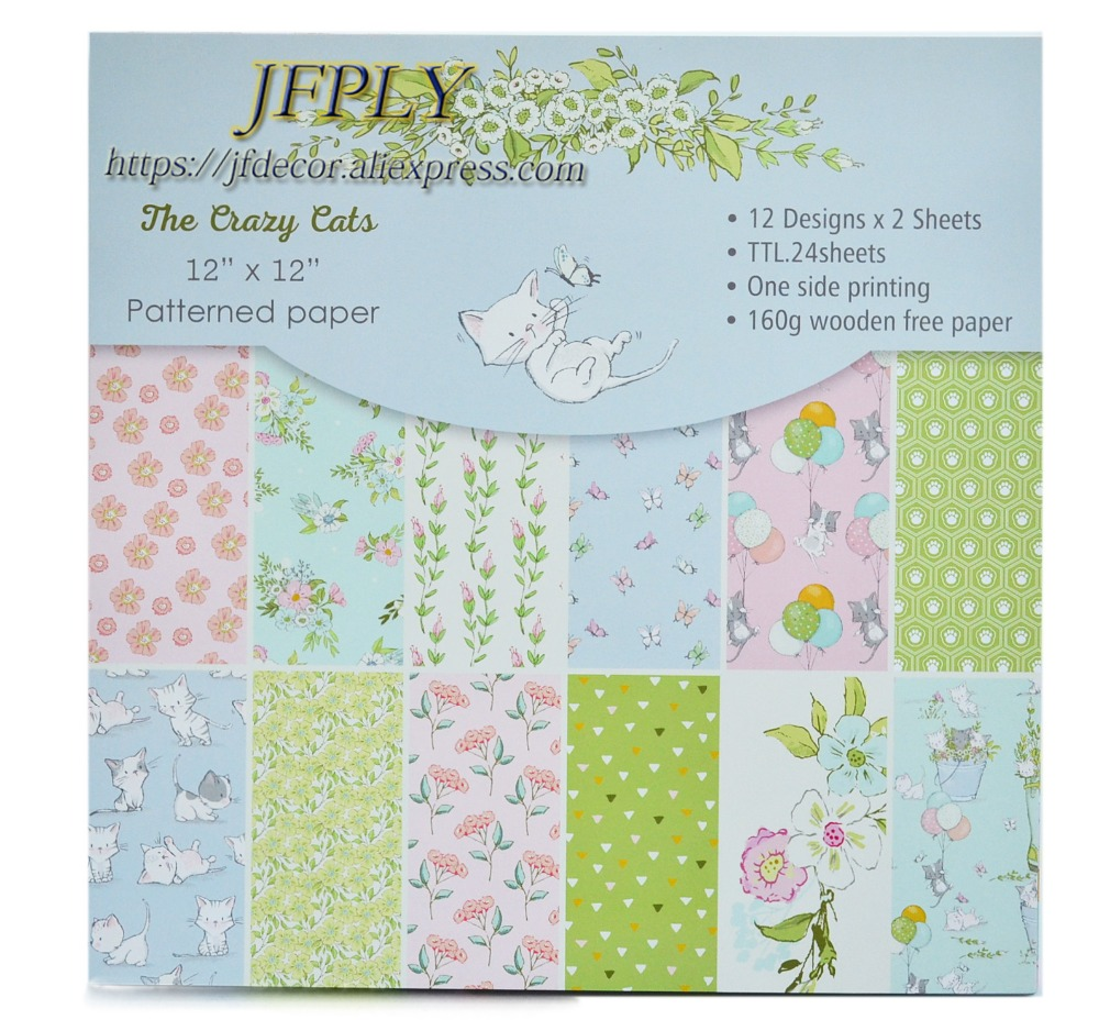 DIY Album Photo Scrapbooking set  Papers Cut seriers  Craft Paper  Card  Making Background pad  12X 12  24sheets/pack