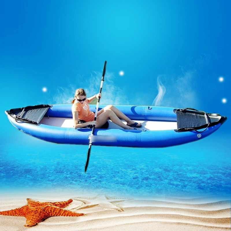 2016 hot sales blue sea kayak fishing for one or two for 2 person kayak fishing