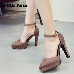 1c081a28c1b1 AIKE Asia Women Pumps Sexy High Heels Ladies Thick Heel