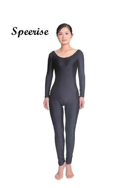 277c5d403af1 SPEERISE Women Long Sleeve Dance Ballet Gymnastics Unitard Spandex Lycra  Bodysuit Full Body Jumpsuit Scoop Neck Skin Suit