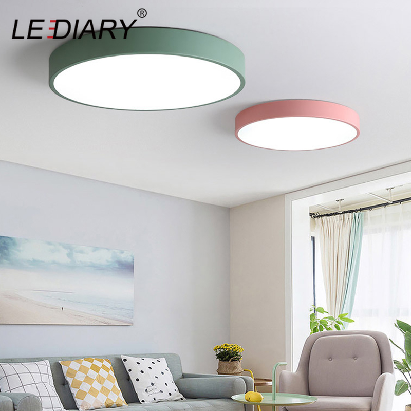 LEDIARY Discolor LED Ceiling Lamp 18W 96-265V Surface Mounted Lighting Fixutes Indoor Living Room Bedroom Nordic Ceiling LightsLEDIARY Discolor LED Ceiling Lamp 18W 96-265V Surface Mounted Lighting Fixutes Indoor Living Room Bedroom Nordic Ceiling Lights