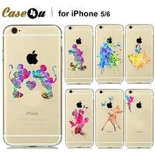 Engraçado bonito tinker bell caso claro macio para coque iphone 7 7 mais 6 6 s plus 5 Aquarela 5SE Silicone Caso do Conto de Fadas acessórios